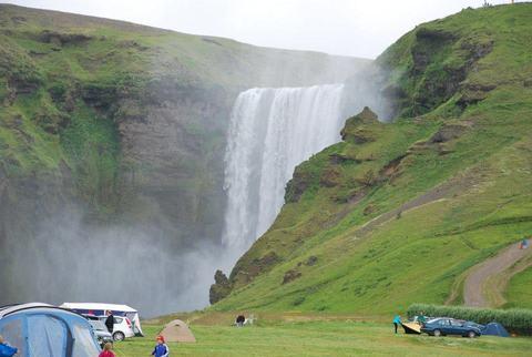 המפל היפה ביותר באיסלנד-Skogarfoss