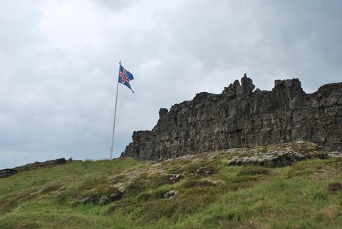 הפארק הלאומי Thingvellir-דגל איסלנד