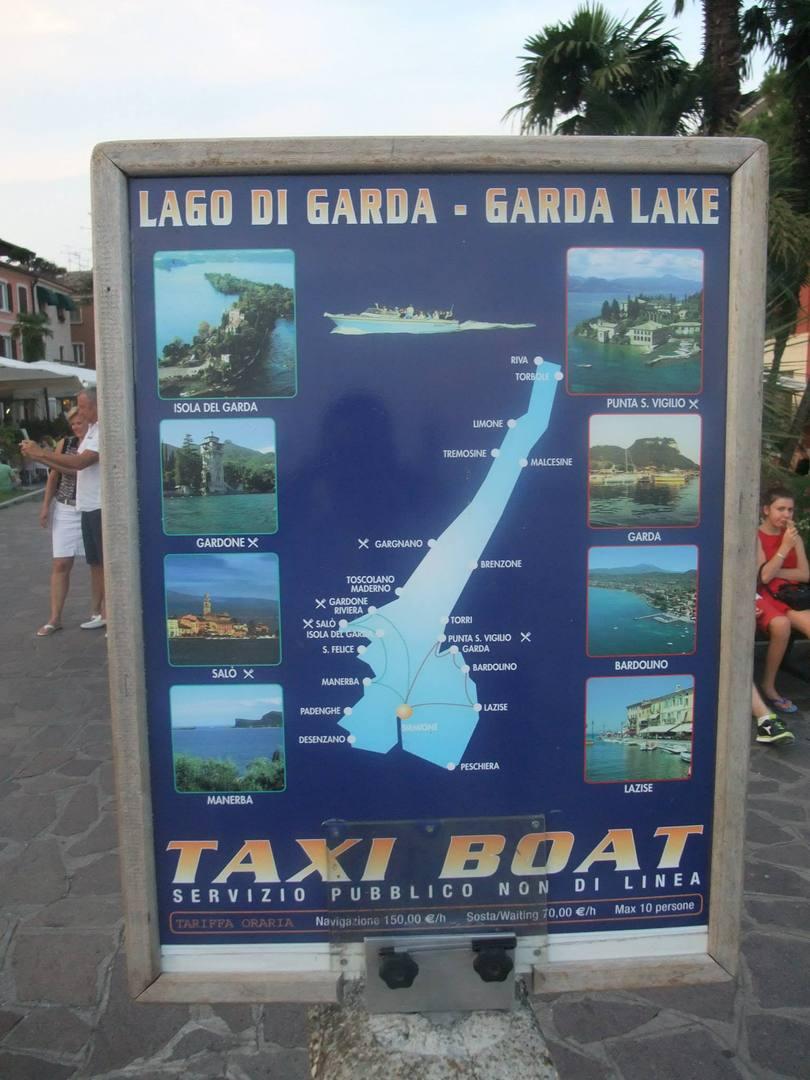 שלט על מוניות ימיות באגם
