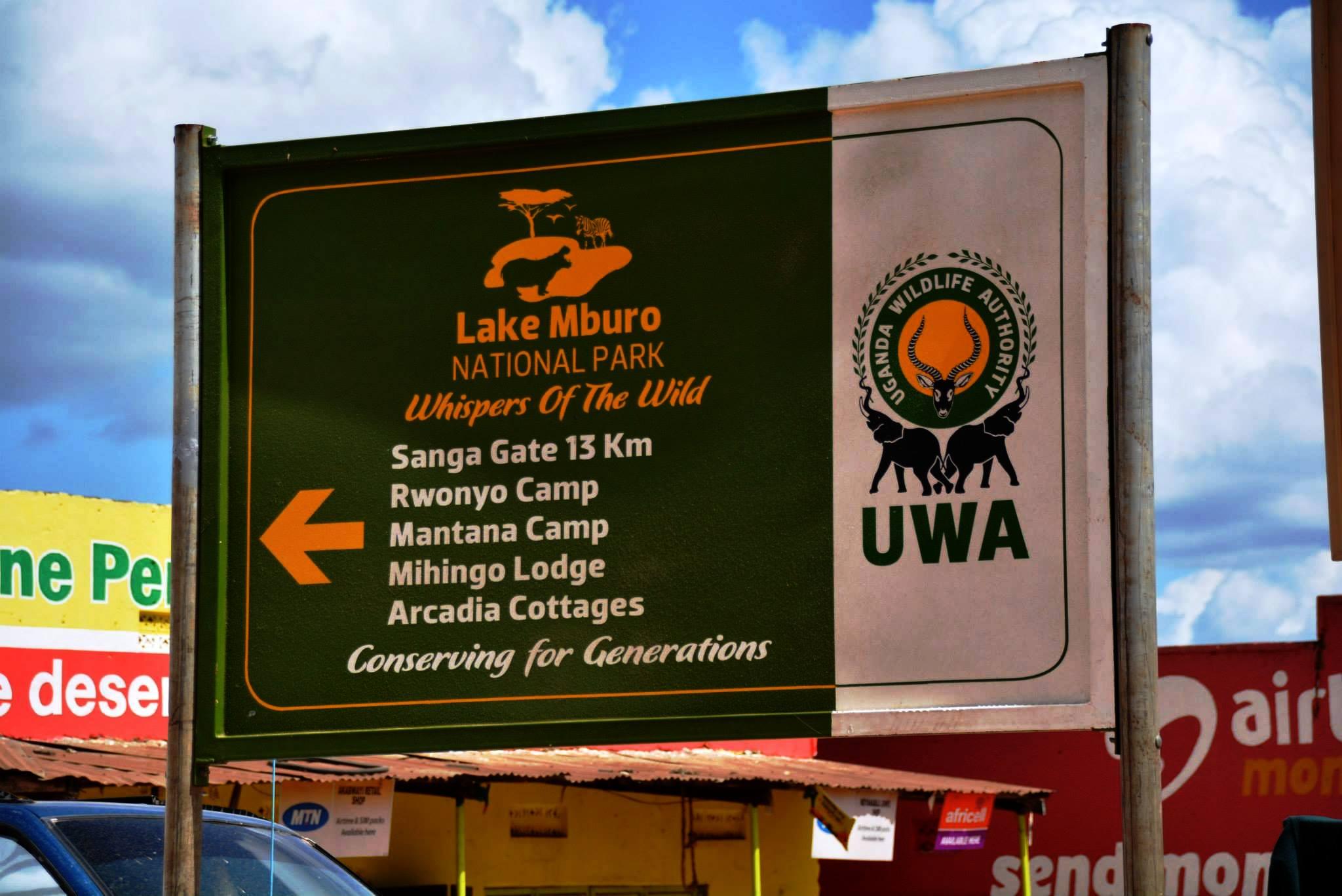 שלט הכניסה לפארק מבורו