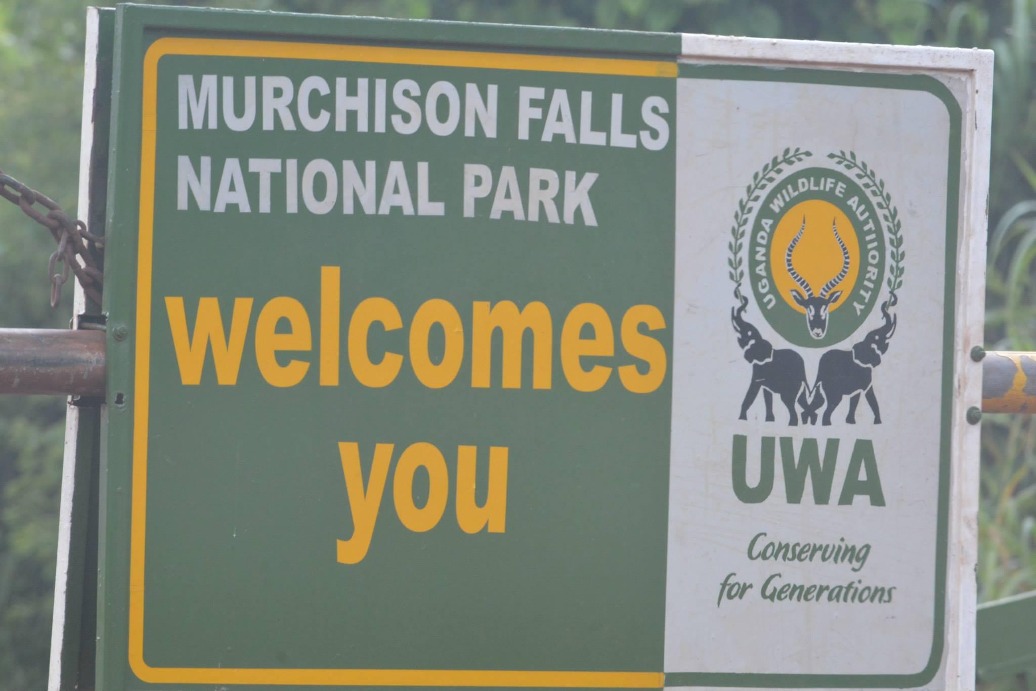 שלט הכניסה לפארק מפלי מורצ'יסון