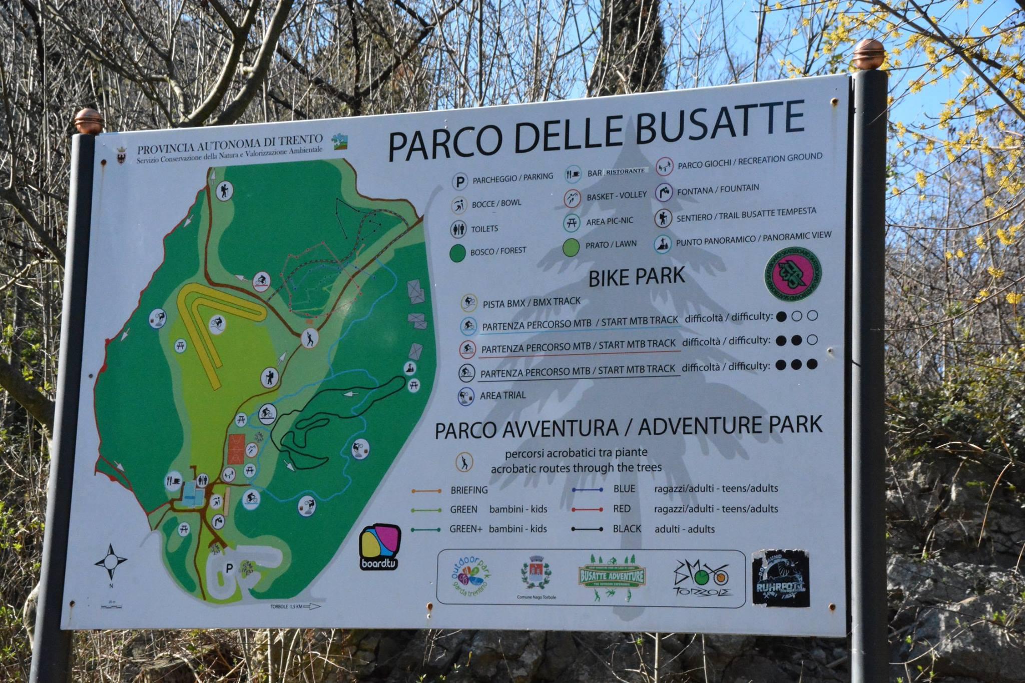 השלט של PARCO LE BUSATTE