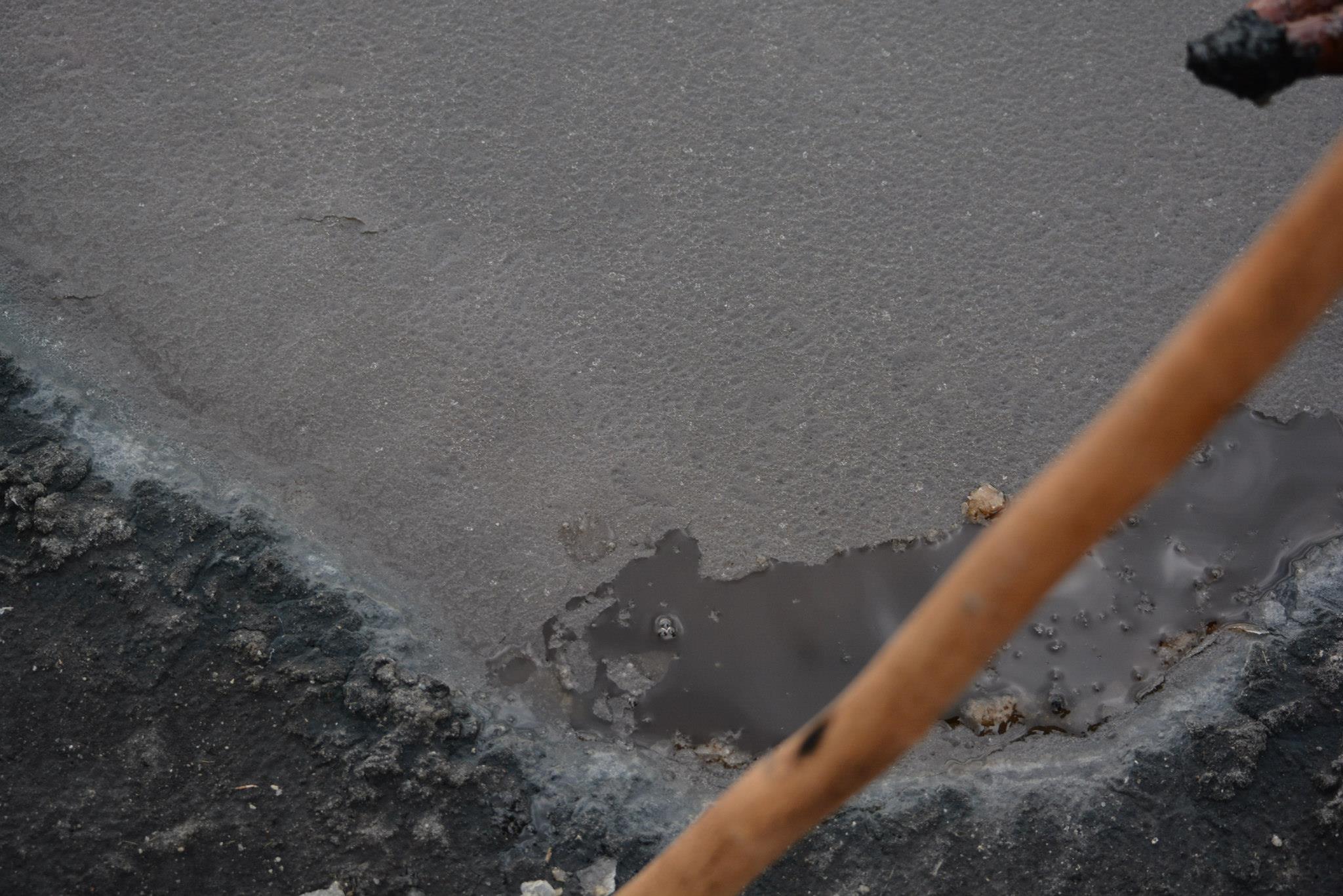 המלח המתגבש על פני המים