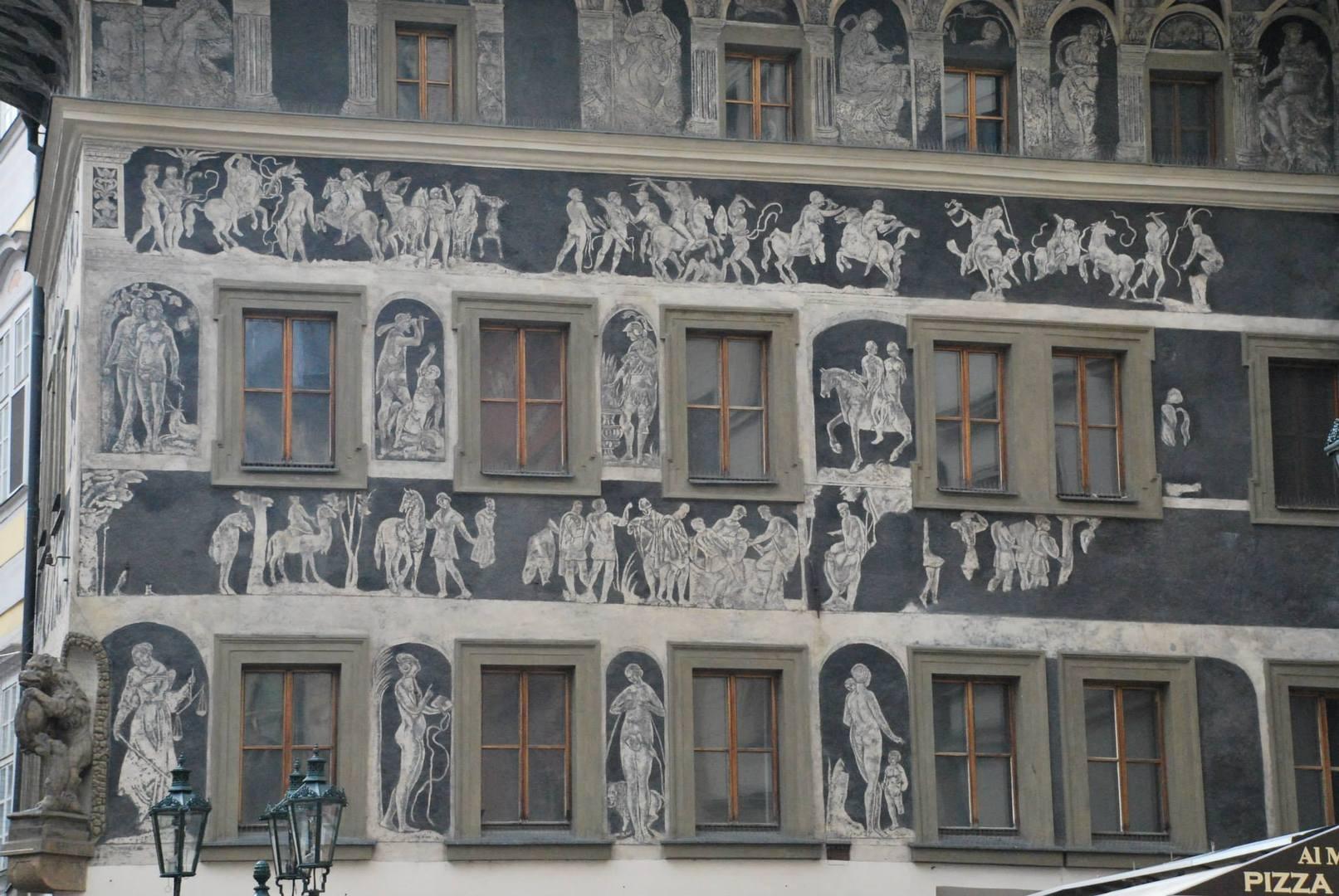 בית הדקה עם ציורי הסגרפיטו המרשימים