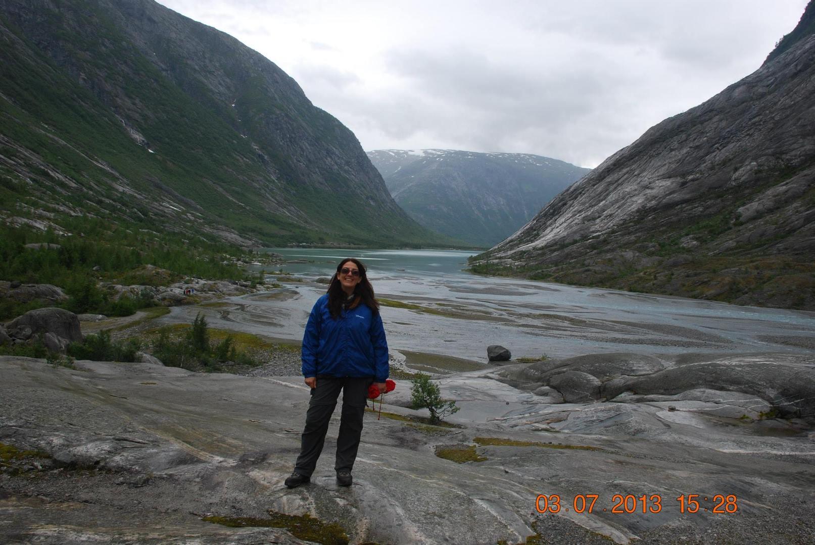 בדרך אל קרחון Nigardsbreen