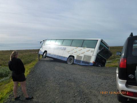 אוטובוס שירד מהדרך