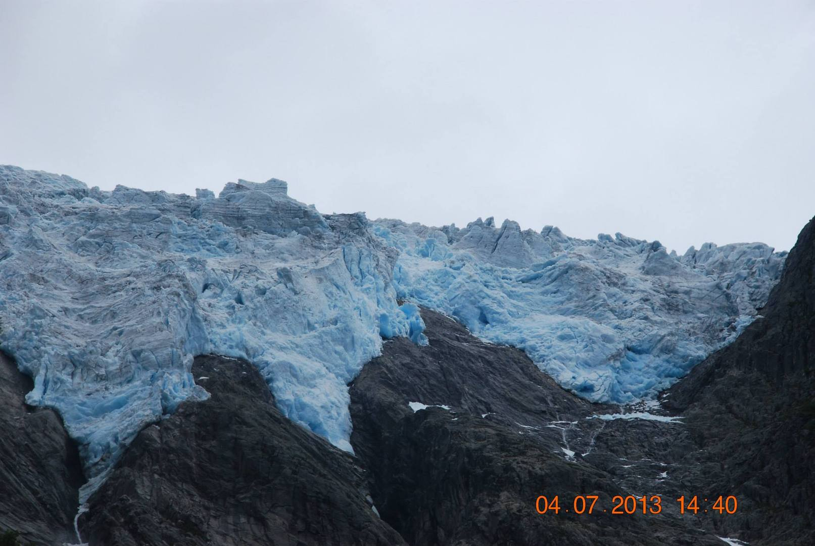 קרחון Supphellebreen מעלינו