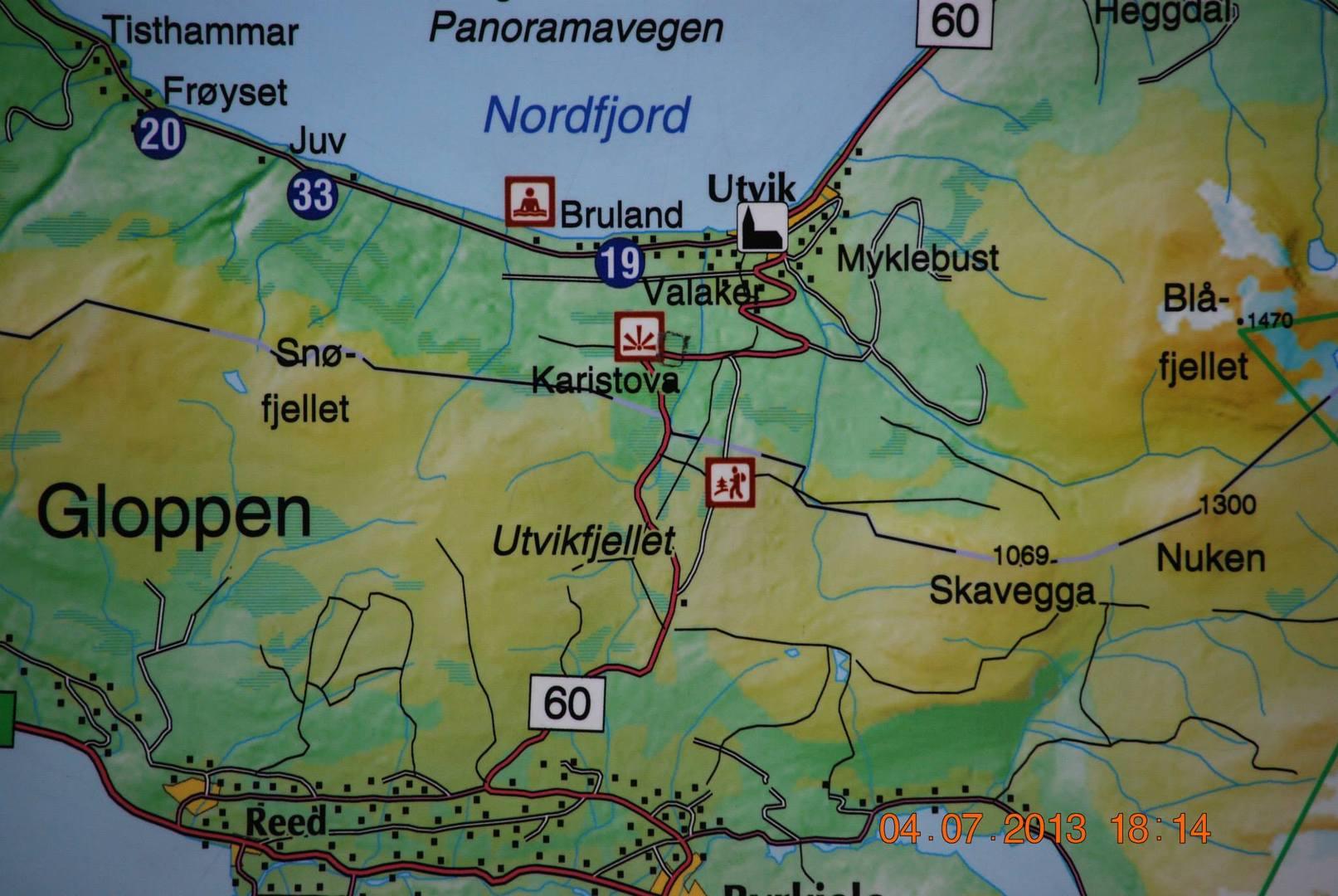 מפת נקודת התצפית Karistova