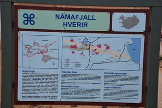 שלט עם מפת Namafjall