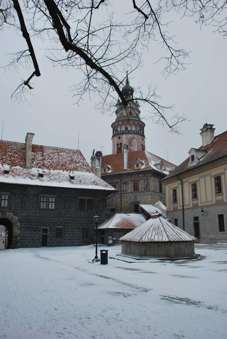 Cesky Krumlov בשלג