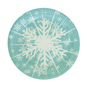 צלחות גדולות פתית שלג 20 יח'