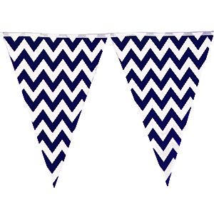 שרשרת דגלים זיגזג כחול
