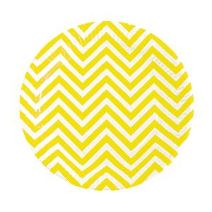 צלחות גדולות זיגזג צהוב 20 יח'