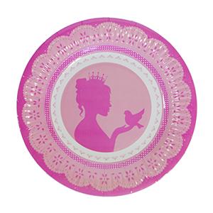 צלחות קטנות נסיכה מלכותית 20 יח'