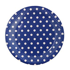 צלחות קטנות נקודות כחול