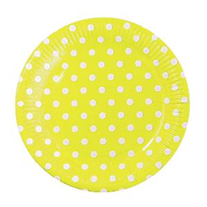 צלחות קטנות נקודות צהוב