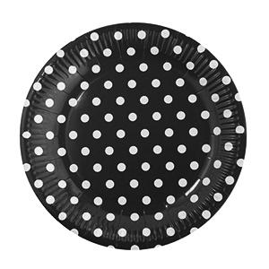 צלחות קטנות נקודות שחור