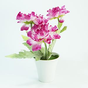 עציץ מלאכותי פרחים ורודים