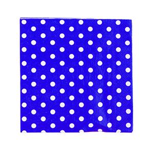 מפיות נקודות כחול 20 יח'