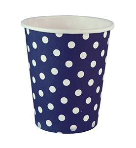 כוסות נקודות כחול 20 יח'