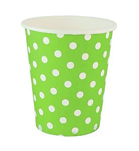 כוסות נקודות ירוק 20 יח'
