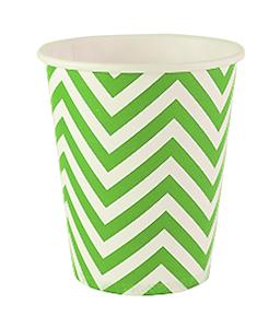 כוסות זיגזג ירוק 20 יח'