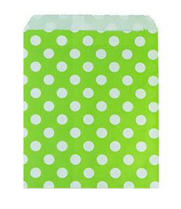 שקיות נייר נקודות ירוק 25 יח'