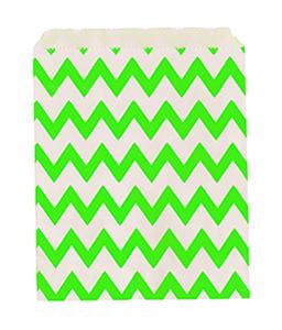 שקיות נייר זיגזג ירוק 25 יח'