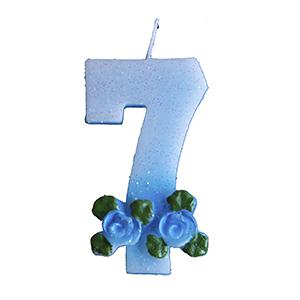 נר תכלת עם פרחים 7
