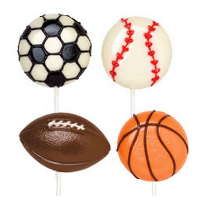 תבנית כדורי ספורט על מקל