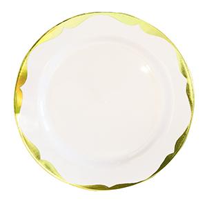צלחות ענקיות רטרו זהב 10 יח'