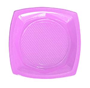צלחות פלסטיק גדולות סגול 20 יח'