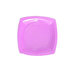 צלחות פלסטיק קטנות סגול 20 יח'