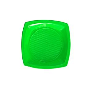 צלחות פלסטיק קטנות ירוק 20 יח'