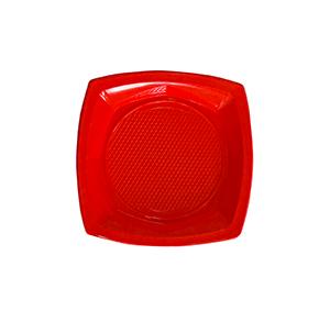 צלחות פלסטיק קטנות אדום 20 יח'
