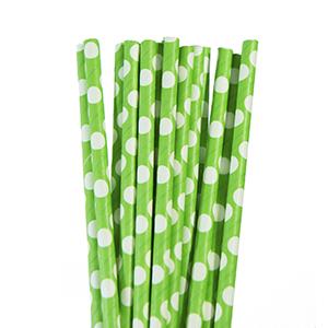 קשיות נייר ירוק נקודות 20 יח'
