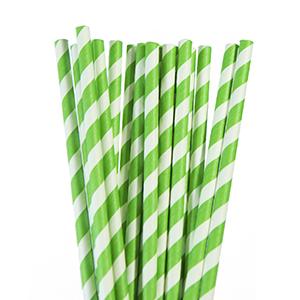 קשיות נייר ירוק זיגזג 20 יח'