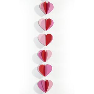 שרשרת תליה לבבות 1.5 מ'