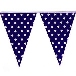 שרשרת דגלים כחול נקודות 2 מ'