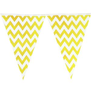 שרשרת דגלים צהוב זיגזג 2 מ'