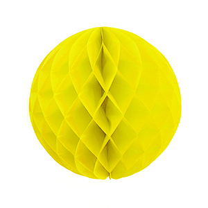 """כדור כוורת צהוב 30 ס""""מ"""