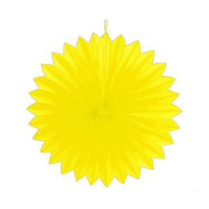 """מניפת נייר צהוב 40 ס""""מ"""