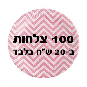 """100 צלחות ב-20 ש""""ח בלבד"""