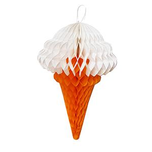 גביע גלידה לבן לתליה