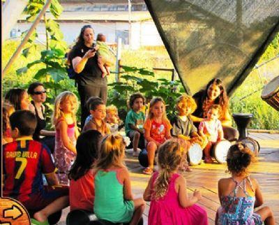 מעגל מתופפים לילדים לזאטוטים במרכז