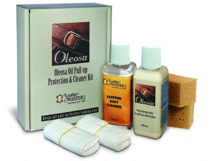 שמן לשימור עורות מסוג Pull Up | מעלים שריטות | Oleosa Leather Care Kit - Leather Master Italy
