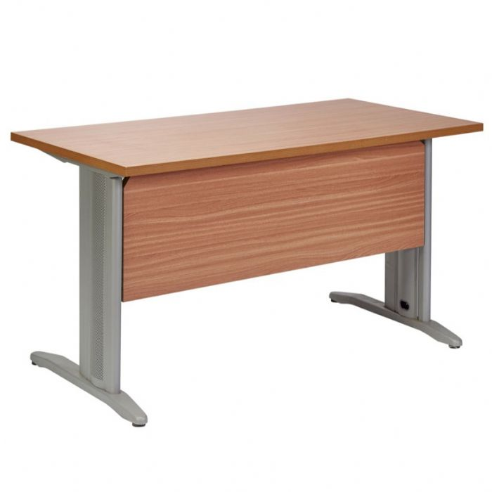 שולחן  מלבני, מחופה פורמייקה/מלמין, רגלים מעץ או רגלי מתכת בצורת T הפוכה, או C