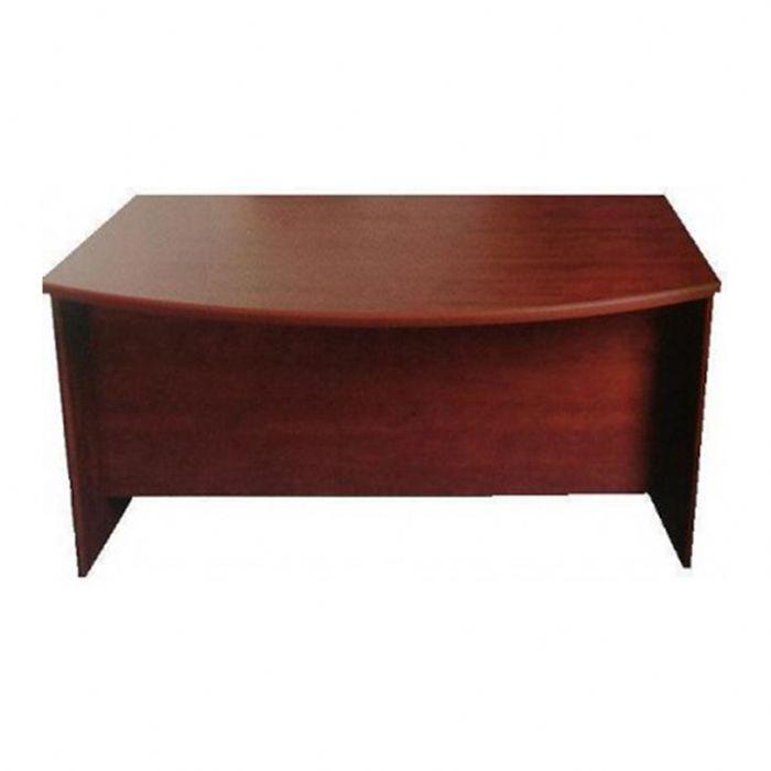 שולחן מנהל עם חזית קשתית, מחופה פורמייקה/מלמין, רגל  מעץ או מתכת