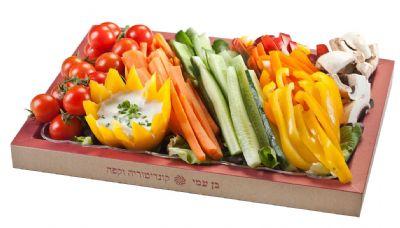 מגשי אירוח ירקות טריים