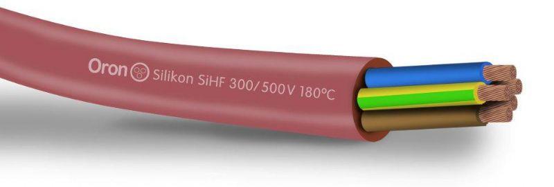 כבל סיליקון גמיש 180 מעלות SIHF 300/500V